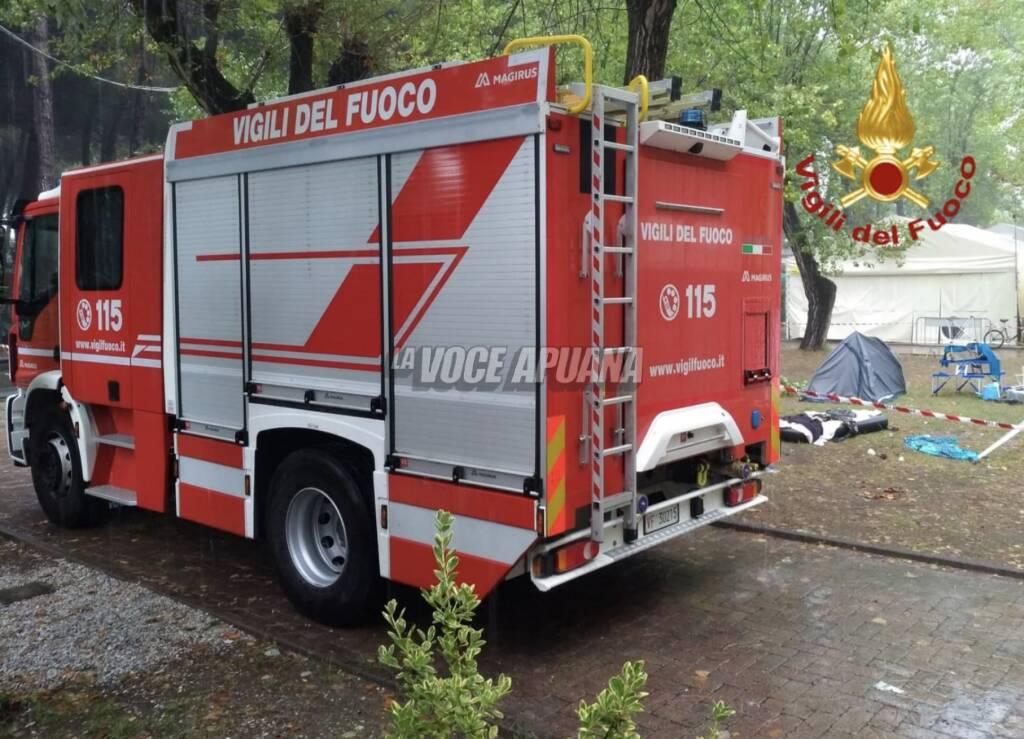 Un mezzo dei vigili del fuoco