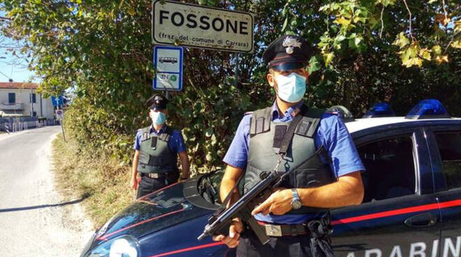Carabinieri a Fossone