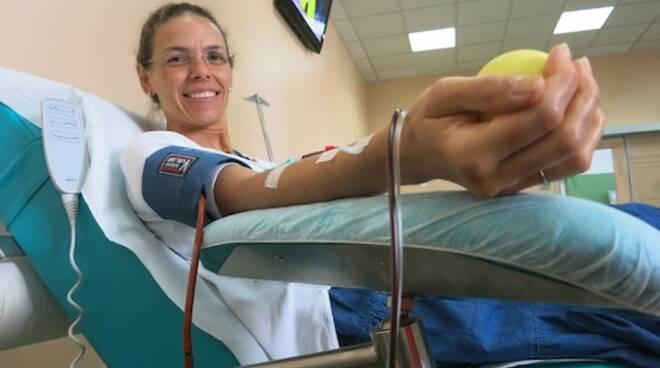 Una donatrice di sangue