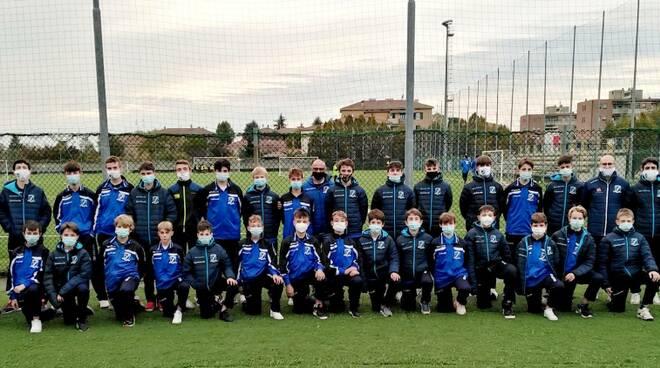 Gruppo completo della Pontremolese a Parma Giovanissimi