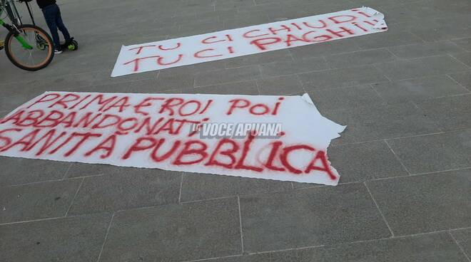 Il presidio di piazza Aranci del 30 ottobre 2020 in protesta al dpcm