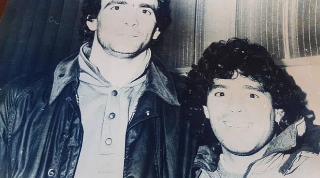 Diego Armando Maradona e Roberto Aliboni, 1987