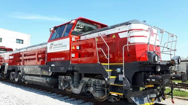 treno, locomotiva, ferrovia porto, treno merci