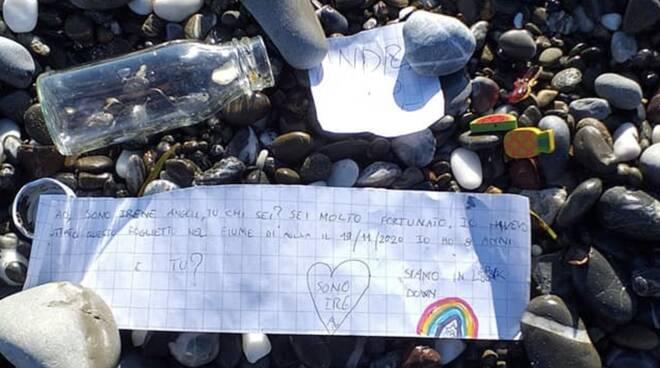 Il messaggio di Irene nella bottiglietta di vetro