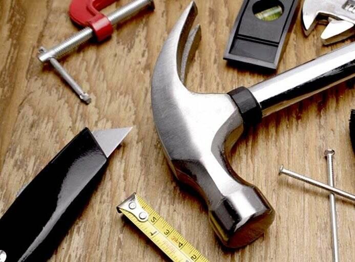 Martello, bricolage, falegname, metro, utensili, ferramenta