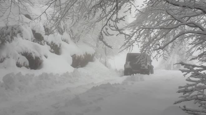 neve a campocecina, nevicata a campocecina