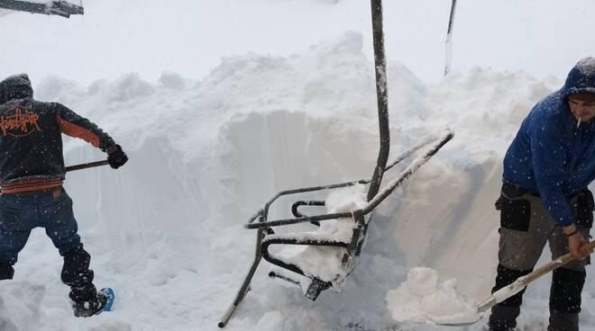 Neve, nevicata record a zum zeri