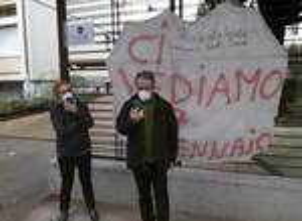 Protesta coordinamento scuola