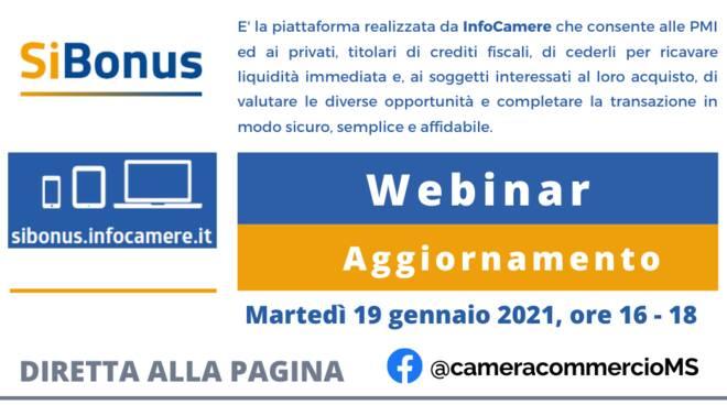 Webinar SìBonus Camera di Commercio