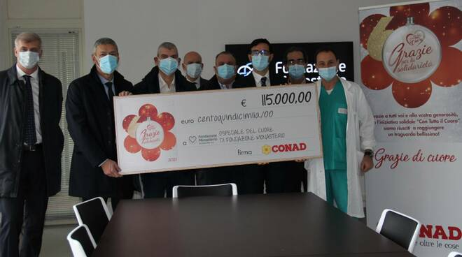 Conad Nord Ovest raccoglie 115 mila euro per Ospedale del Cuore della fondazione Monasterio