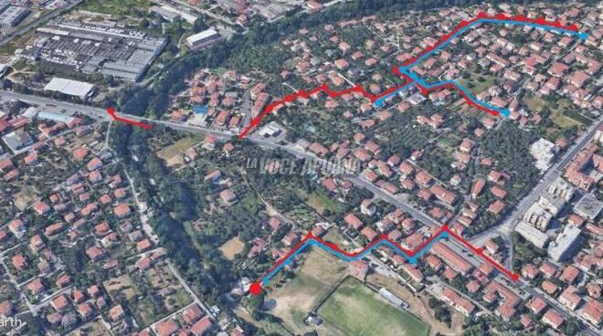 LA mappa delle nuove fognature in località La Zecca a Massa