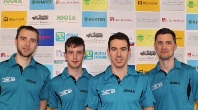 Squadra 2020-2021 dell'Apuania Carrara Tennis Tavolo