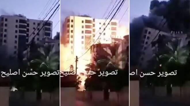 gaza palestina israele bombardamento