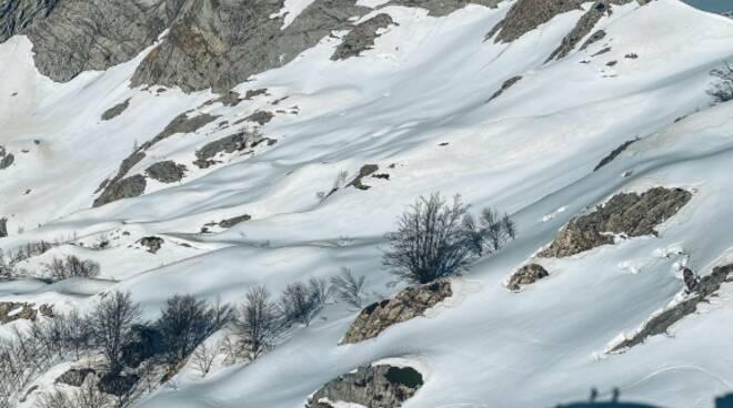 La discesa in snowboard dalla Carcaraia