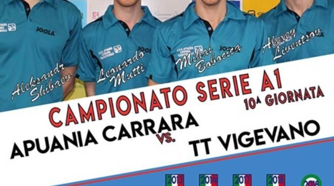 Locandina Carrara Tennis Tavolo - TT Vigevano