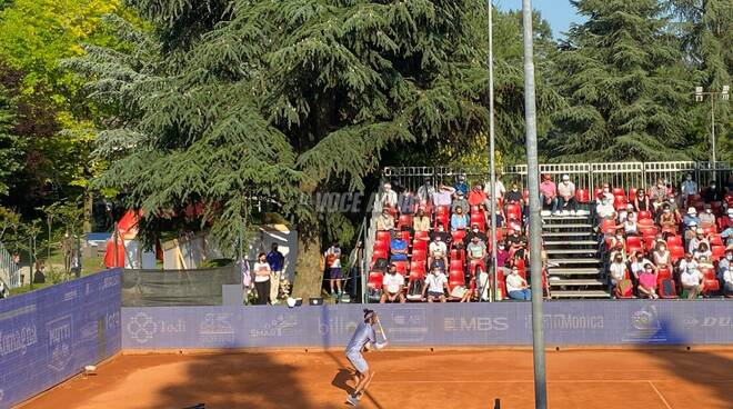 Lorenzo Musetti all'esilio Romagna Open contro Nishioka