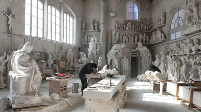 laboratorio scultura marmo nicoli