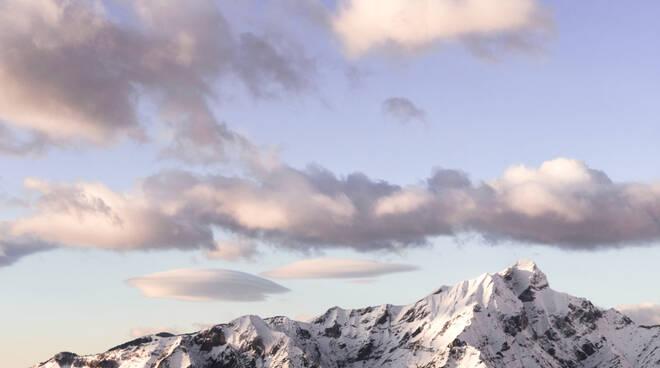 Monte Sagro e gruppo del Monte Sagro innevato