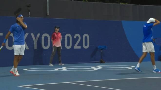 Lorenzo Musetti e Lorenzo Sonego a Tokyo 2020
