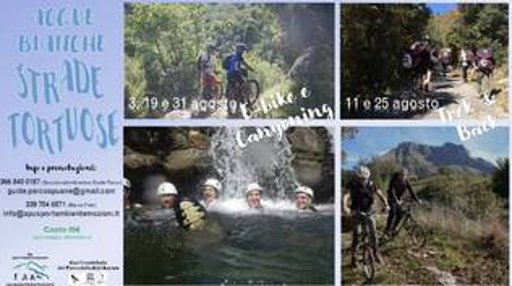 escursionisti torrenti fiumi apuane