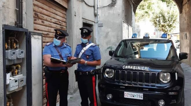 carabinieri contatore gas