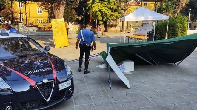 carabinieri vandali piazza d'armi