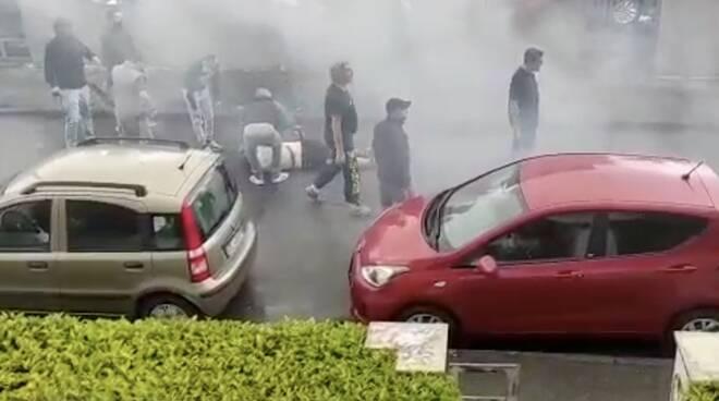 scontri tifosi carrarese massese