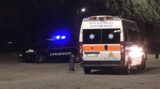 Carabinieri e Ambulanza Pontremoli
