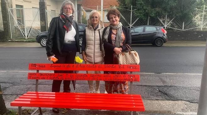 Panchina rossa a Pontremoli